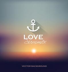 Summer sunset blurry background vector