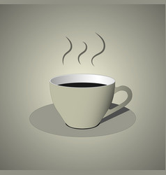 white cup of coffee icon vector image