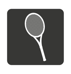 Tennis sport equipment isolated icon vector