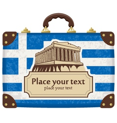 Greece and the acropolis vector