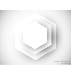 Abstrac background with gray hexagons vector