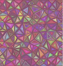 Retro triangle mosaic tile background vector image