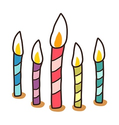 Icon candle vector