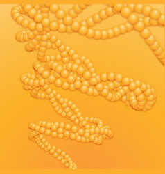 Chain of orange spheres with soft vector