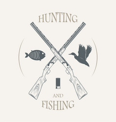 Hunting and fishing vector