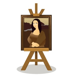 Mona lisa easel vector