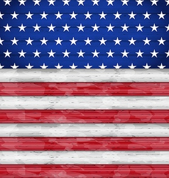 Wooden american flag for independence day vector