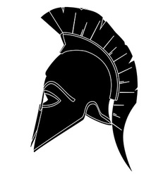 Black helmet vector