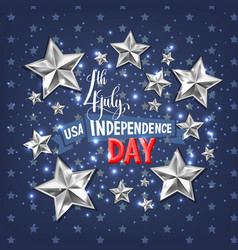 4th july usa independence day greeting card vector image vector image