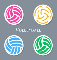 Volleyball ball labels vector