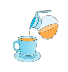 Orange juice jug vector