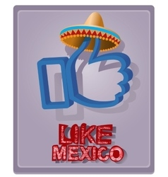 Mexican style in a sombrero vector