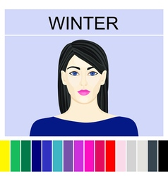 Stock winter type of female appearance vector