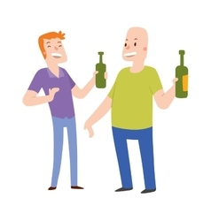 Alcoholics people vector