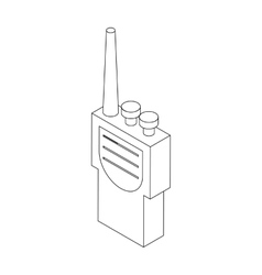 Portable handheld radio icon in isometric 3d style vector