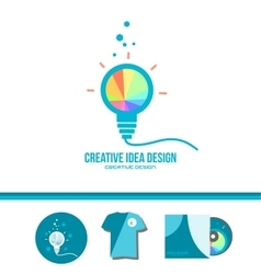 Creative idea light bulb genius concept vector