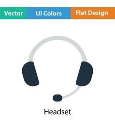 Headset icon vector