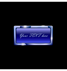 beuatiful blue banner vector image