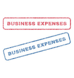 Business expenses textile stamps vector