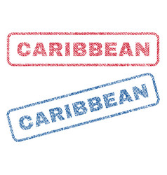 Caribbean textile stamps vector