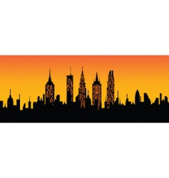 cityscape sunset vector image