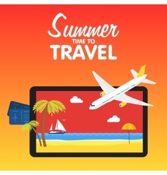 Colorful flat travel banner Quality design vector image