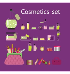 cosmetic set vector image vector image