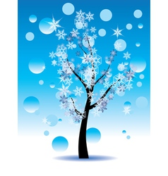 Decorative winter tree3 vector
