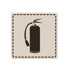 Emblem sticker extinguisher icon vector