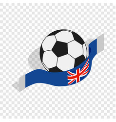 english football isometric icon vector image vector image