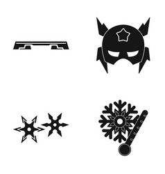 Fitness bench mask and other web icon in black vector