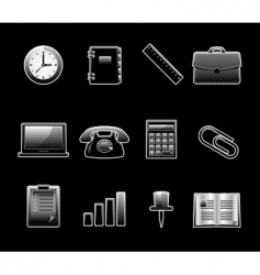 glossy icon set vector image vector image