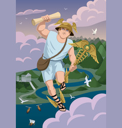 hermes vector image vector image