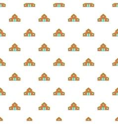 House pattern cartoon style vector