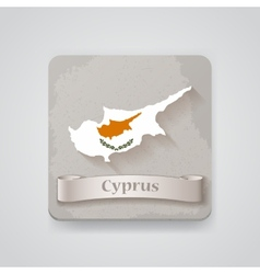 Icon of cyprus map with flag vector