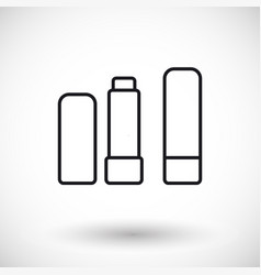 Lip balm thin line web icon vector