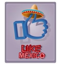 Mexican style in a sombrero vector image