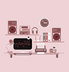 Modern workplace vector