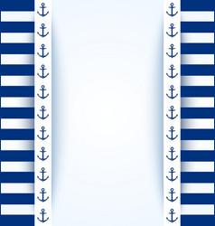 Nautical background vector