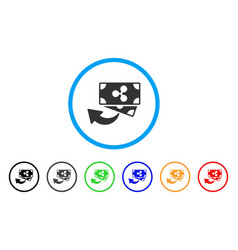 Ripple cashback rounded icon vector