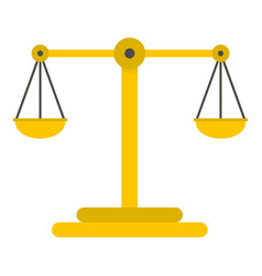 Scales of justice icon isolated vector