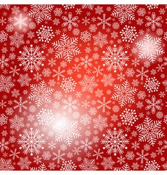 Seamless red christmas pattern vector image vector image