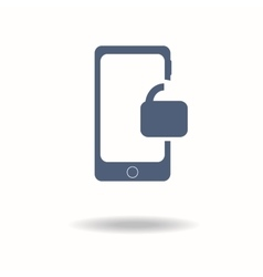 Smartphone Unlocked icon Internet security vector image