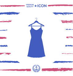 sundress evening dress combination or nightie on vector image vector image