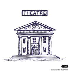 Theatre building vector