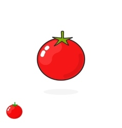 Tomato icon isolated flat cartoon tomatoe vector image vector image