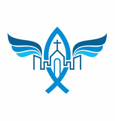 Unity in christ the church of jesus in the city vector