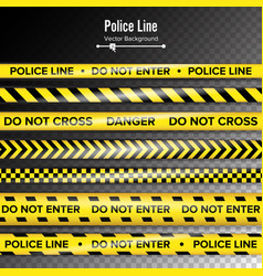 Yellow with black police line do not enter vector