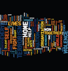 Terrorism in the home text background word cloud vector