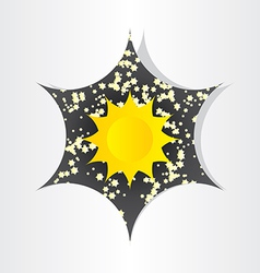 Star in universe stars sun sunlight abstract vector